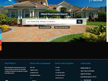 Wordpress website, Real estate