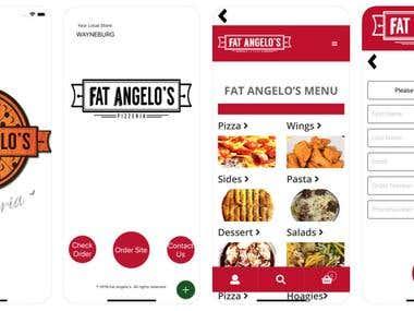 Webview App: FatAngelosPizza