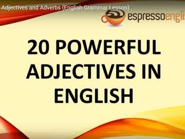"452000 views in a year "" Youtube English Learning Video"