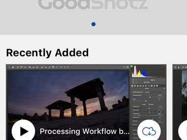 Goodshotz iOS App