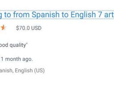 Spanish to english article