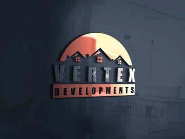 Logo design for vertex design.