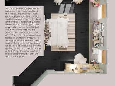 INTERIOR DESIGN GIRL BEDROOM