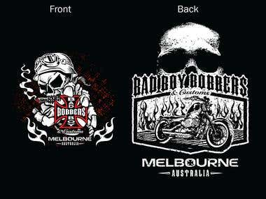 Bad Boy Bobbers and Customs T-Shirt Design Motorcycle Biker