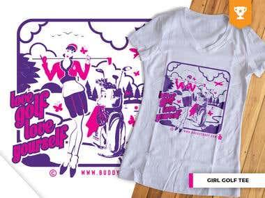 Girl Golf Event T-Shirt (Buddy Caddy)