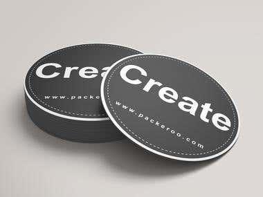 Sticker and Label Designs.