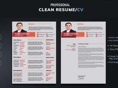 resume and letterhead