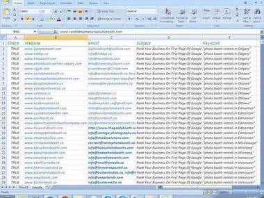 Photographer Email List