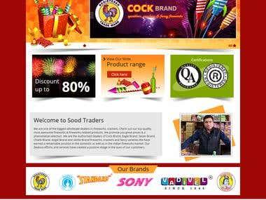 Firework & crackers Showcase Website