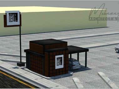 Drive trou Cafe 3D Rendaring