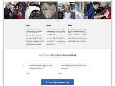 Zenetec Website Design.