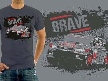 Brave T-Shirt Design