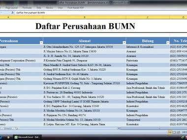 Entri Data dengan Excel