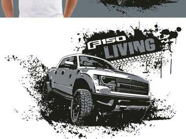 F150 Truck Lovers - T-shirt Design