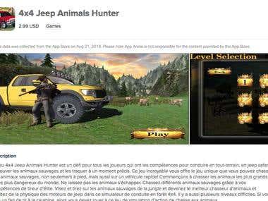 4x4 Jeep Animals Hunter