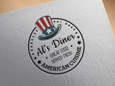 American diner catering trailer