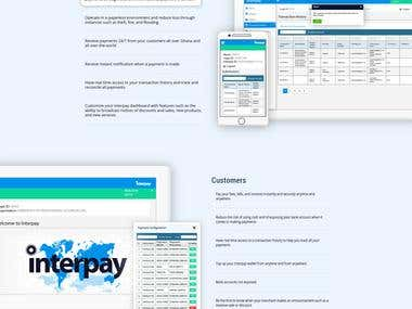 Interpay Home Page Design
