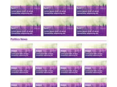 News Blog demo design