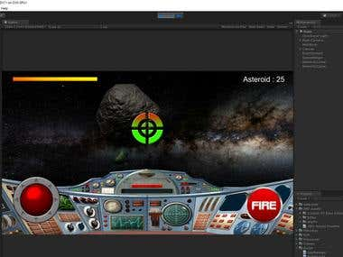 Asteriod Shooting 3D game