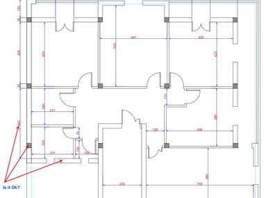 Autocad, home interior design