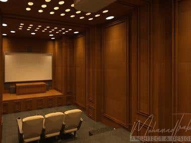 Luxury Home Cinema 3D Rendering