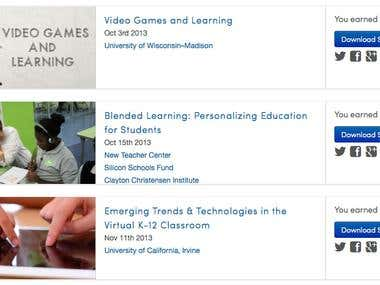 E-learning, Gamification and Coaching (Coursera)