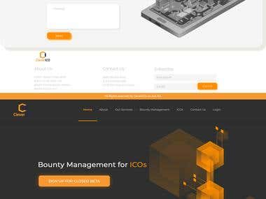ICO Crypto website design