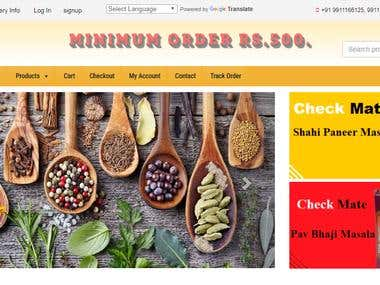 http://checkmateexports.com/ online store to sell spices