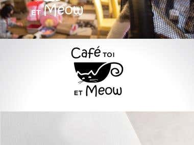 Logo design - Cat cafe