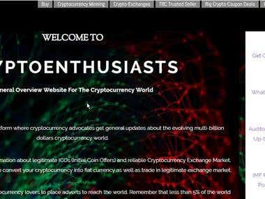 Cryptoenthusiasts Website