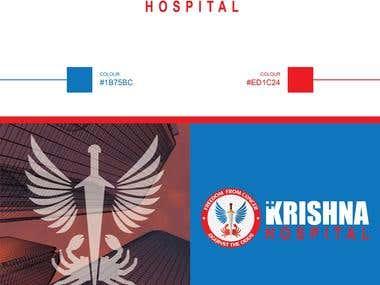 Krishna Cancel Hospital Logo Design