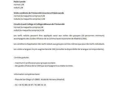 Spanish to French translation
