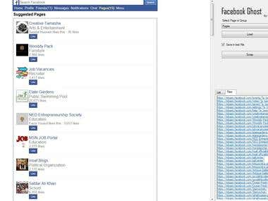Facebook Pages and Group extractor