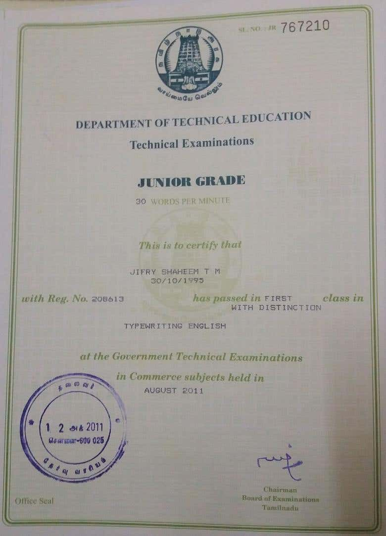 Typing Certificate 30 Words Per Minute Freelancer
