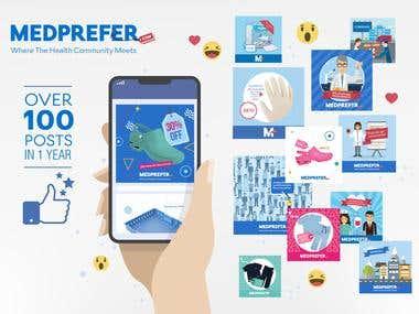 Medprefer Social Media designs