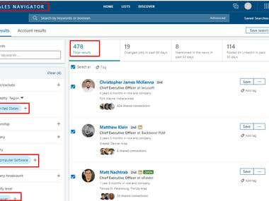 LinkedIn Contact Project
