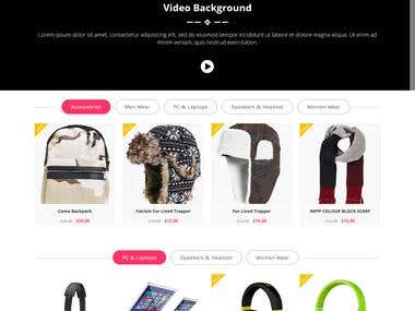 E-commerce Shopping site