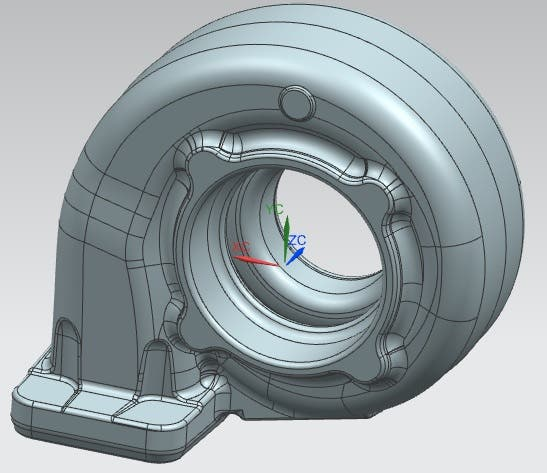 Reverse Modelling of Turbo in NX 9/10 from Scan data | Freelancer