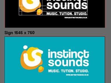 Instinct sounds music school logo