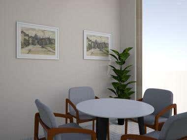 Office interior 3D Render