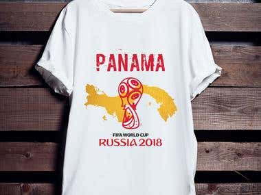 Panama in Worldcup T-shirt