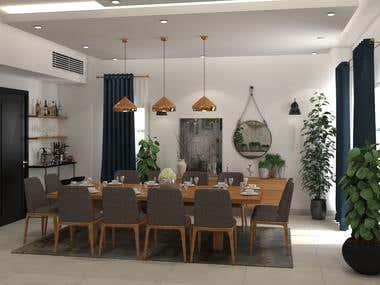 villa living& dining