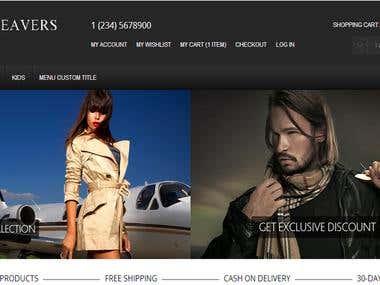 Website for Fashion Weaver