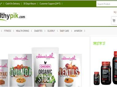 Website for Healthypik