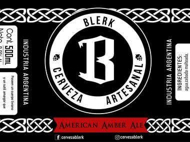 Branding - Cerveza Blerk (Logo - Label - Typography)