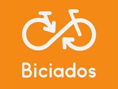 "MockUps Ciclism App - ""Biciados"""