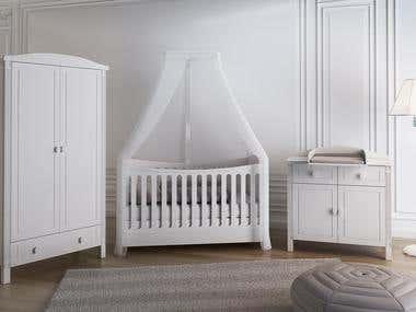 3D RENDERING BABY BED