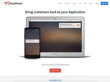 PushPrime Saas Product