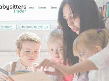 Babysitters Website UI Design