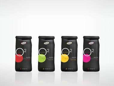 branding and packaging design for an italian blend cappuccin